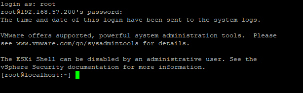 ESXi SSH connection issue