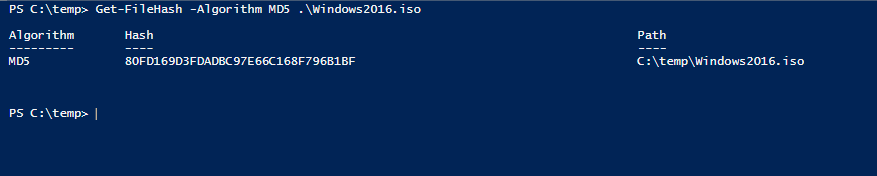 File checksum with Powershell MD5 SHA512